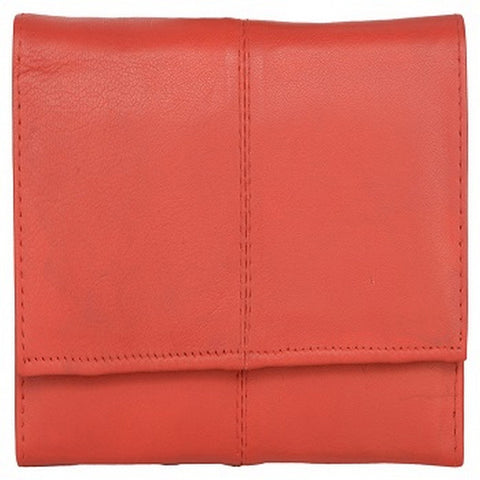 Red Color Leather Womens Wallet - 941RED