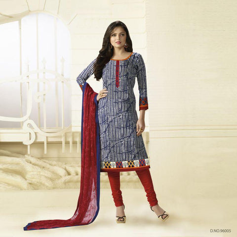 Multi Color Rayon Un Stitched Salwars - 96005