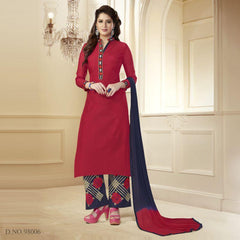 Red Color Chanderi Salwars
