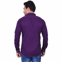 Purple Color Premium  Cotton Men'S Shirt- 1ABF-P