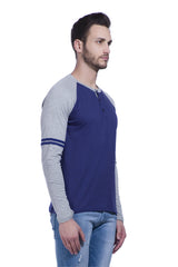 Navy Color Cotton Men's Tshirt - LEXCORP-9RNGMS