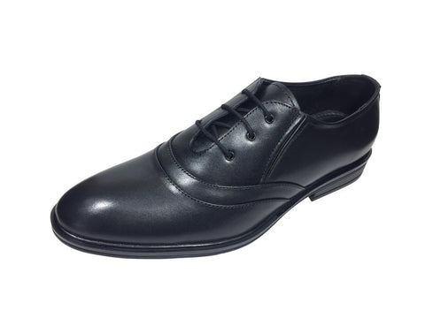 Black Color Leather Pu Men's Formal Shoes - A-104
