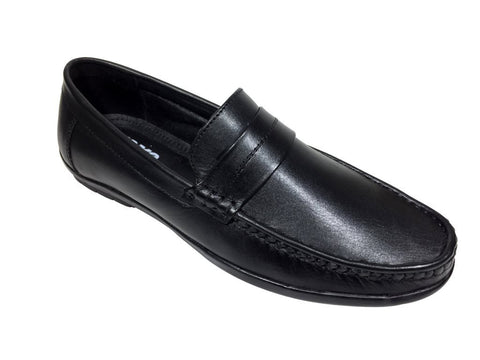 Black Color Leather Tpr Men's Formal Shoes - A-401-black