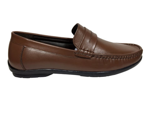 Brown Color Leather Tpr Men's Formal Shoes - A-401-brown