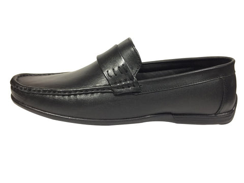 Black Color Leather Tpr Men's Formal Shoes - A-402