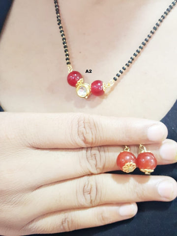 Red Color Beads Mangalsutra - A2090055KMG2