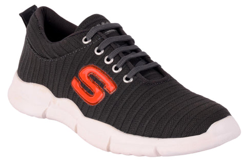 Black Color Mesh Men's Sports Shoes - AA_18001