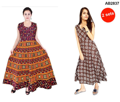 COMBOS-Multi Color Cotton Stitched Dress - JFDL2202200 , JFDL2108209