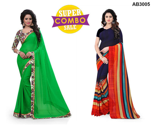 COMBOS-Georgette and Chiffon arees - Popins-08 , Surbhi-103