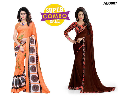 COMBOS-Georgette and Chiffon arees - 2061 , Popins-07