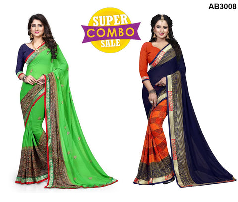 COMBOS-Georgette Sarees - ON-106 , ON-104