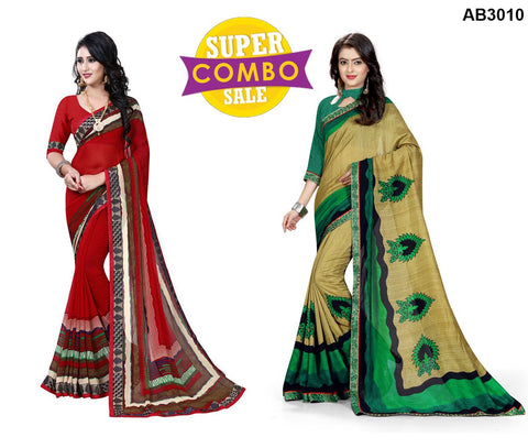 COMBOS-Georgette and Silk Sarees - ON-114  ,ON-108