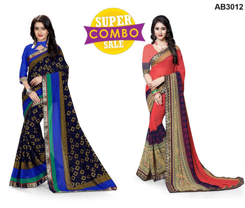 COMBOS-Georgette and Silk Sarees - ON-117 , ON-115