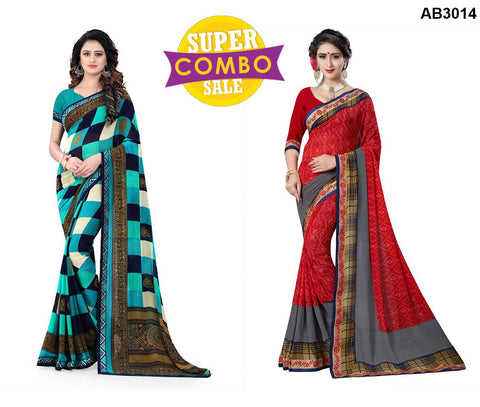 COMBOS-Georgette Sarees - ON-122 , ON-120