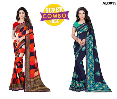 COMBOS-Georgette Sarees - ON-123  ,ON-121