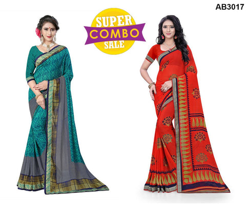 COMBOS-Georgette Sarees - ON-128  ,ON-126