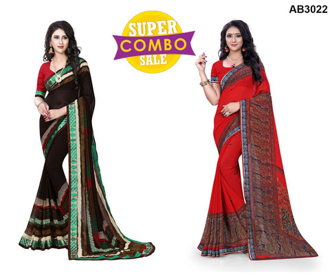 COMBOS-Georgette Sarees - ON-134 , ON-109