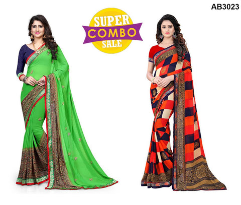 COMBOS-Georgette Sarees - ON-121 , ON-104