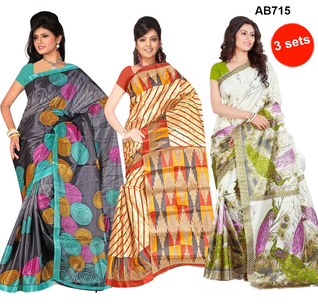 Taffeta Silk Printed Casual Wear Sarees