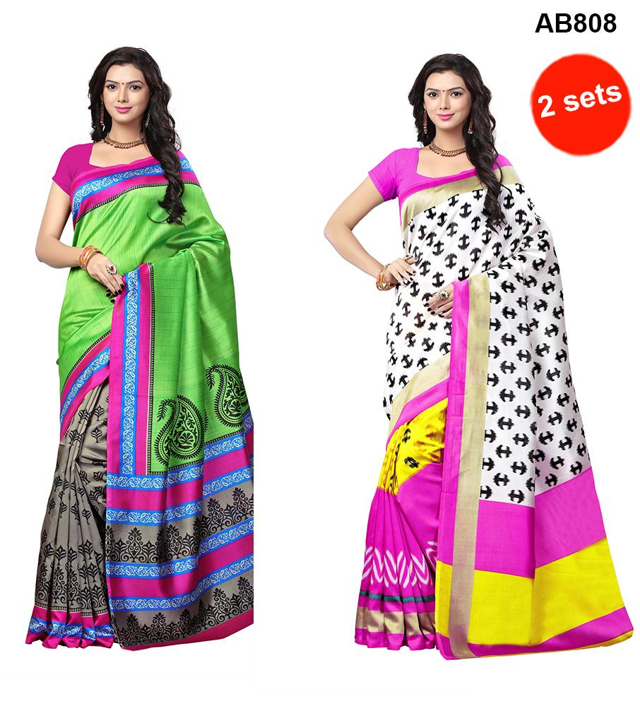 Printed Art Silk Sarees