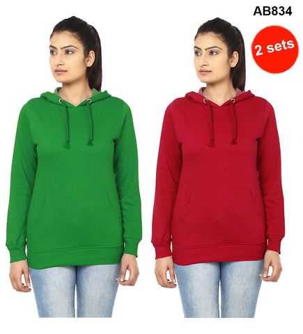 COMBOS-Green&Red  Color Pure Cotton T-Shirts- 99-FKT-S10009-008 , 99-FKT-S10009-007