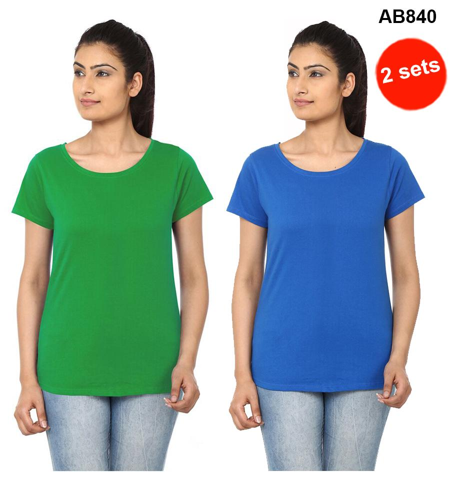 Green & Blue  Color Pure Cotton T-Shirts