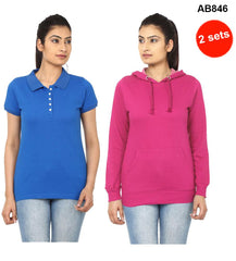 Blue&Pink  Color Pure Cotton T-Shirts