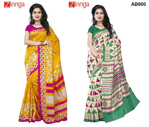 COMBOS-Multi Color Jute Silk Sarees - RR-2002 , RR-2005