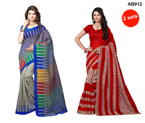 COMBOS-Multi Color Bhagalpuri Silk Sarees - 4564 , 4572
