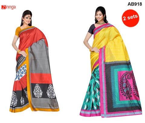 COMBOS-Multi Color Art Silk Sarees - NINEA1-02 , NINEA1-03