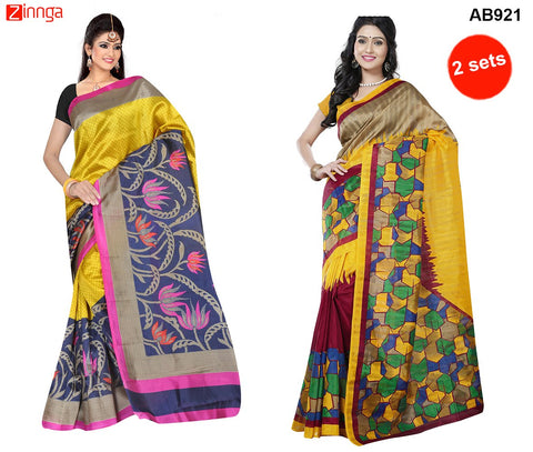 COMBOS-Multi Color Art Silk and Jute Silk Sarees - NINEA1-01 , RR-4443
