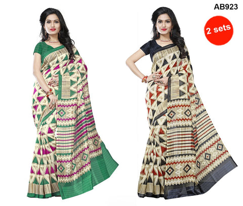 COMBOS-Multi Color Jute Silk Sarees - RR-2005 , RR-2006