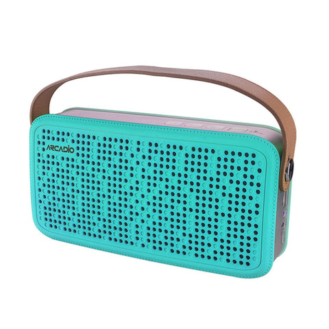 ARCADIO THUNDER - Aqua Green Color Portable Bluetooth Wireless Stereo Speaker - ABTS408-AquaGreen