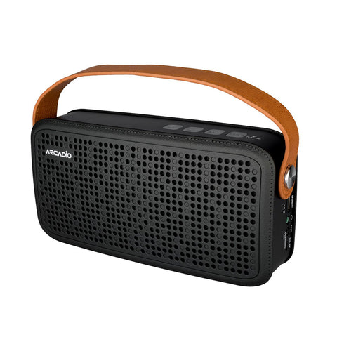 ARCADIO THUNDER - Black Color Portable Bluetooth Wireless Stereo Speaker - ABTS408-Black