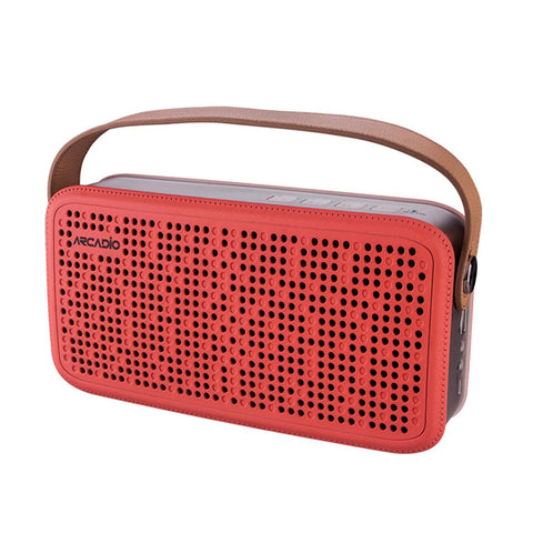 ARCADIO THUNDER - Coral Pink Color Portable Bluetooth Wireless Stereo Speaker - ABTS408-Coral Pink