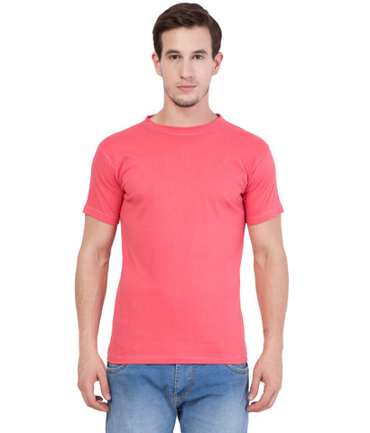 AMERICAN ELM- Pink Color Cotton T-Shirt - AE-HS-T-1
