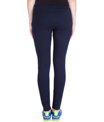 AMERICAN ELM-Navy Blue  Color Cotton Track Pant - AE-PWL-176
