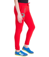 AMERICAN ELM-Red  Color Cotton Track Pant - AE-PWL-195