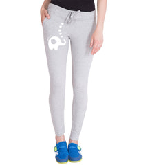Grey  Color Cotton Track Pant