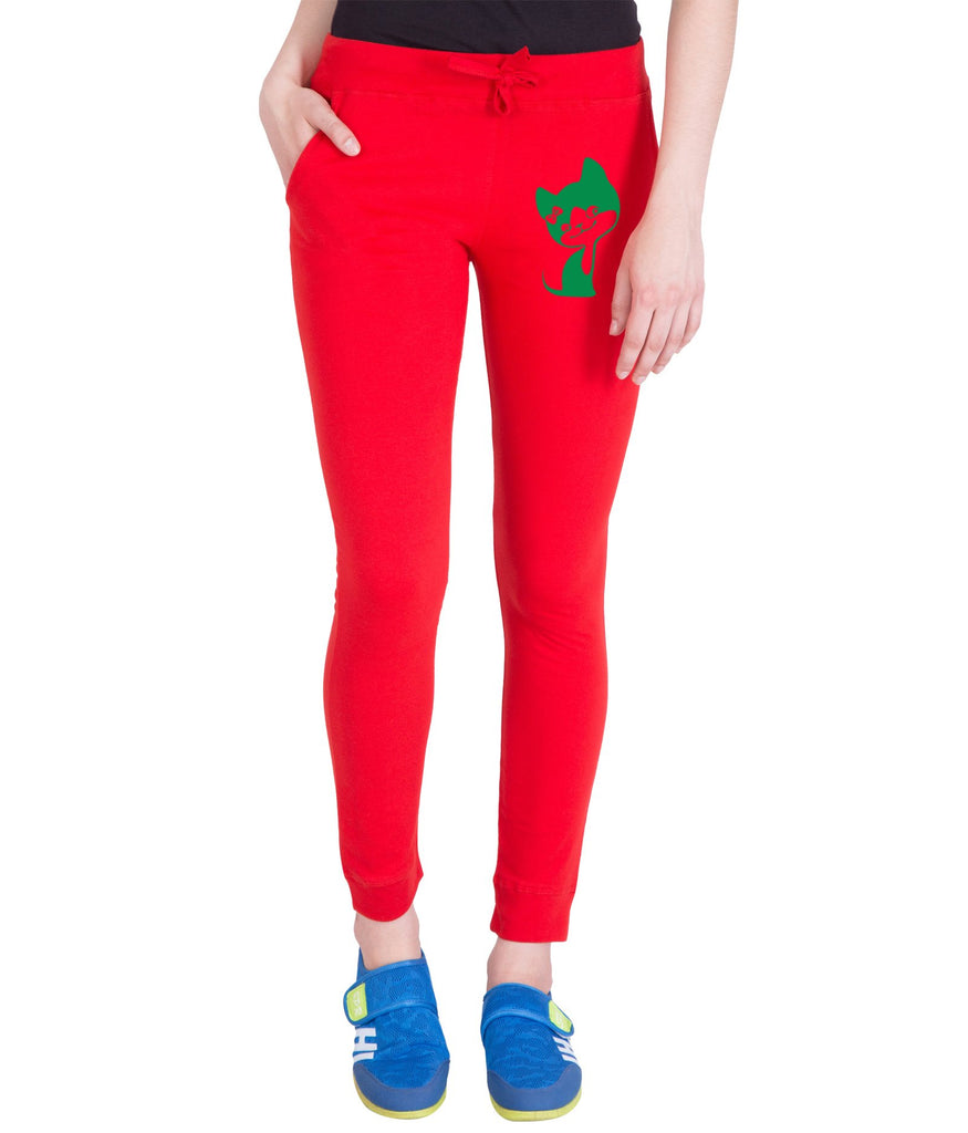 Red  Color Cotton Track Pant