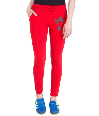 AMERICAN ELM-Red  Color Cotton Track Pant  - AE-PWL-213