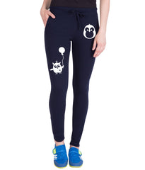 Navy Blue  Color Cotton Track Pant