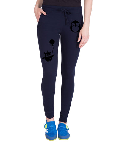 AMERICAN ELM-Navy Blue  Color Cotton Track Pant  - AE-PWL-221