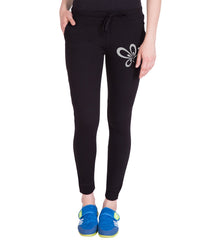 Black Color Cotton Track Pant
