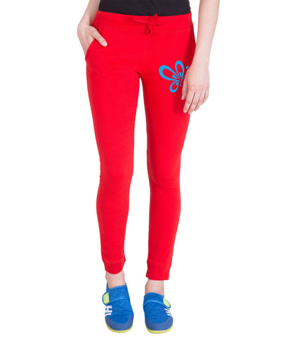 AMERICAN ELM-Red  Color Cotton Track Pant-AE-PWL-84