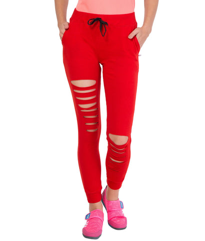 AMERICAN ELM- Red Color Cotton Track Pant-AE-WL-124