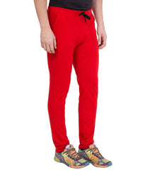 AMERICAN ELM-Red Color Cotton Track Pant - AELW-22