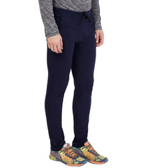 AMERICAN ELM-Navy Blue Color Cotton Track Pant - AELW-23
