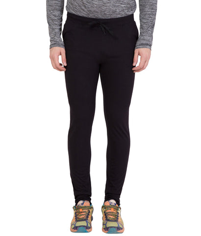 AMERICAN ELM-Black Color Cotton Track Pant - AELW-24