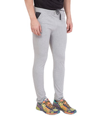 AMERICAN ELM-Grey Color Cotton Track Pant - AELW-25